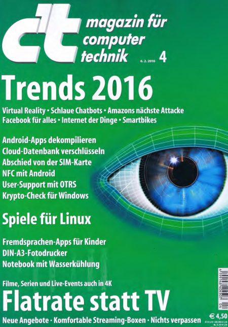c't Magazin 2016-04