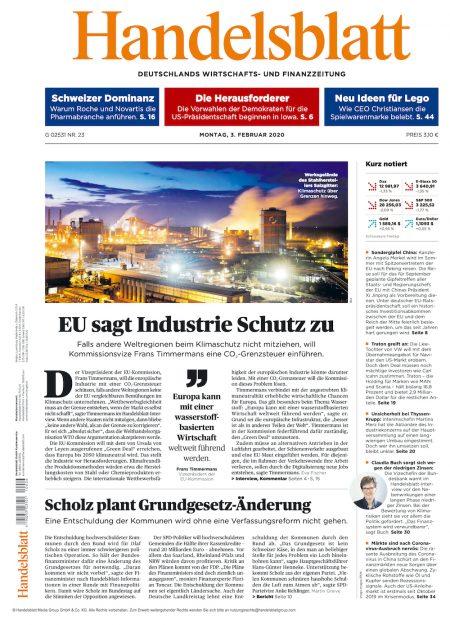Handelsblatt 2020-02