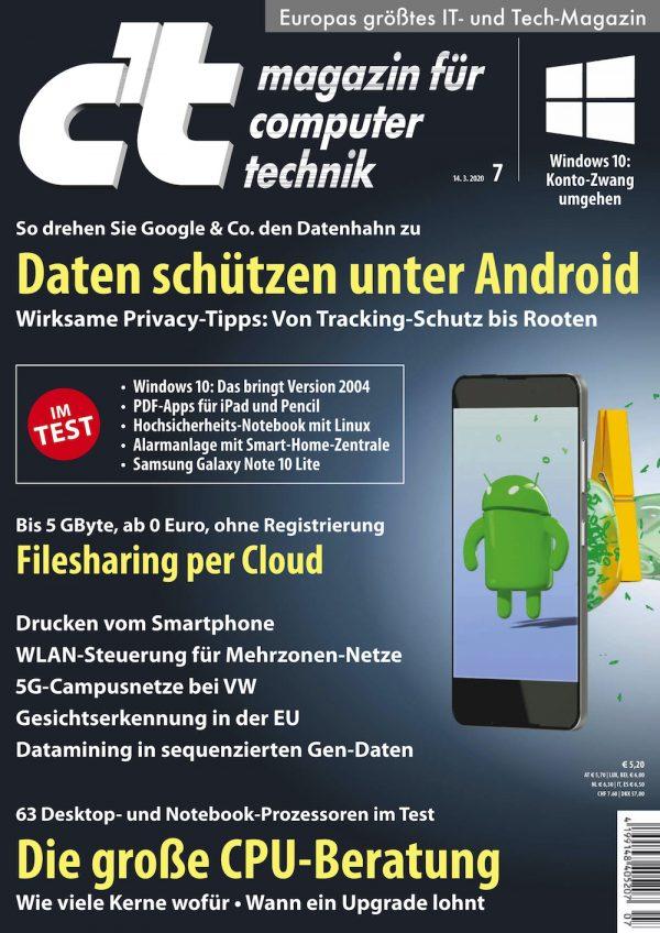 c't Magazin 2020-07