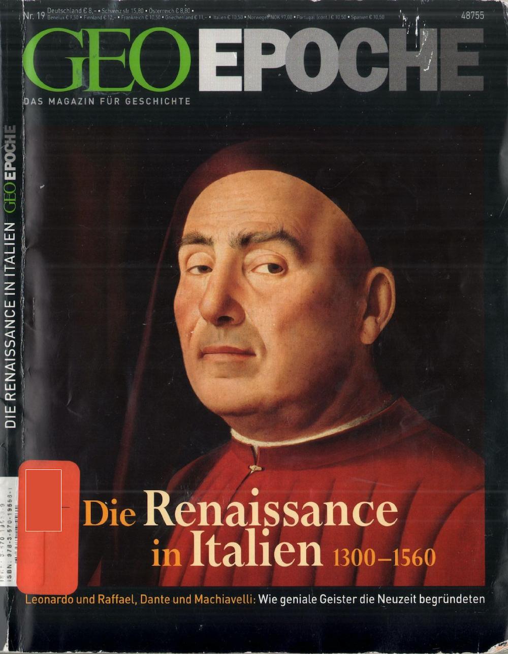 GEO Epoche 2005-19 Die Renaissance in Italien