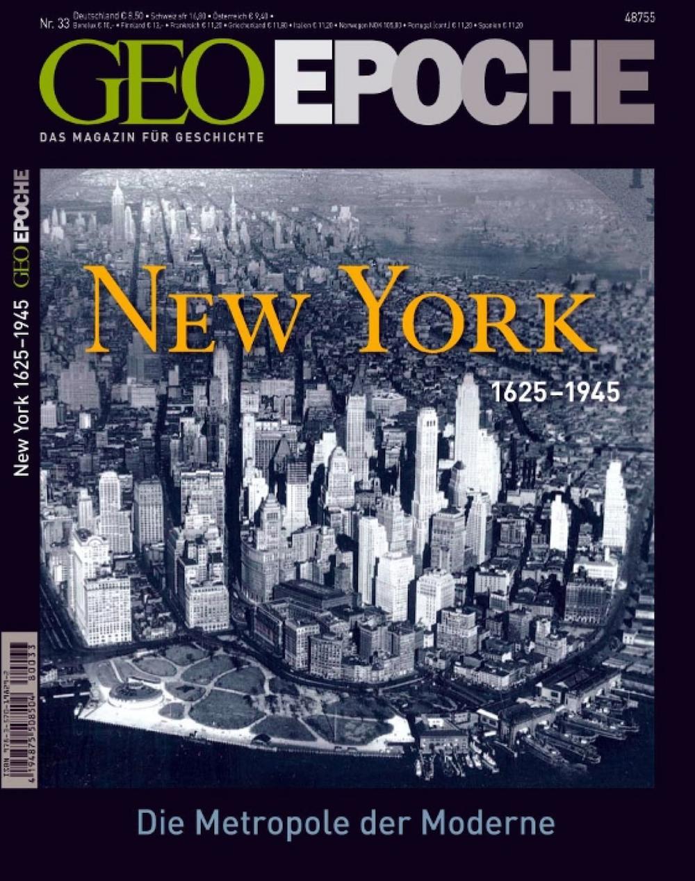 GEO Epoche 2008-33 New York 1625-1945
