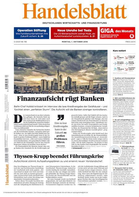 Handelsblatt 2018-10