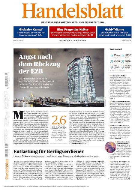 Handelsblatt 2019-01