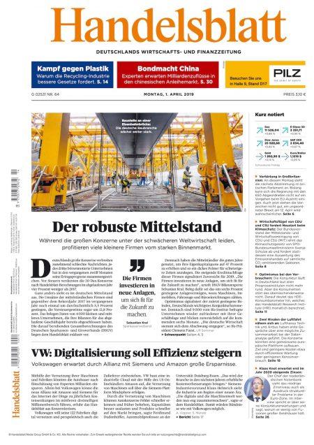 Handelsblatt 2019-04