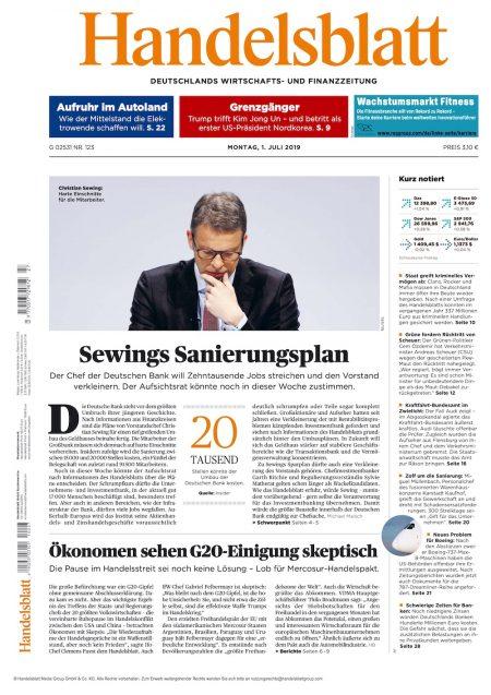 Handelsblatt 2019-07