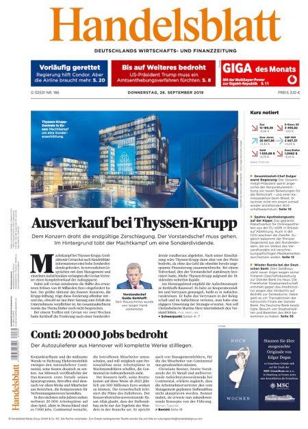 Handelsblatt 2019-09