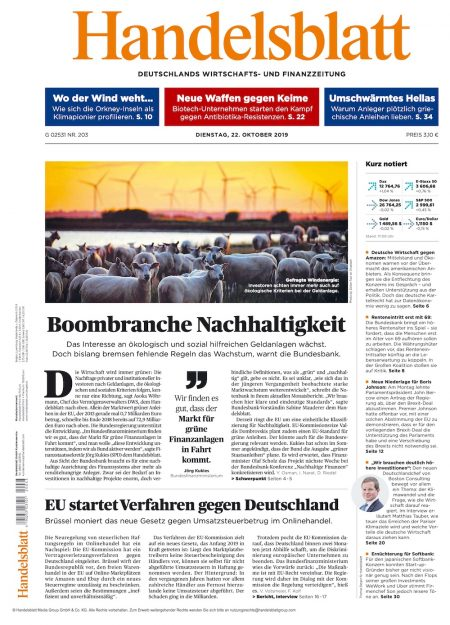 Handelsblatt 2019-10