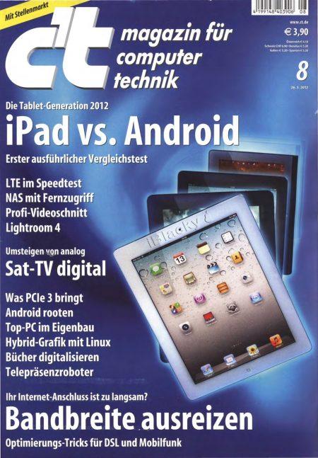 c't Magazin 2012-08