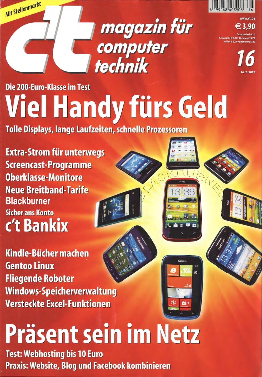 c't Magazin 2012-16