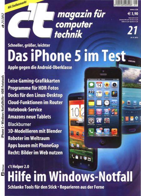 c't Magazin 2012-21