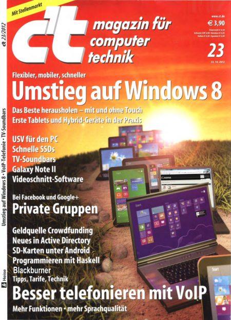 c't Magazin 2012-23