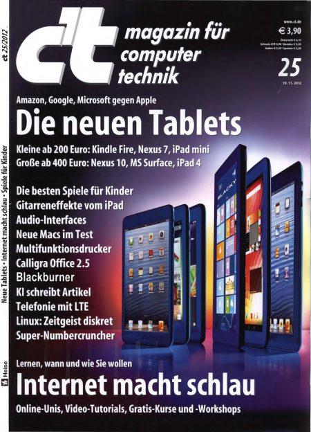 c't Magazin 2012-25