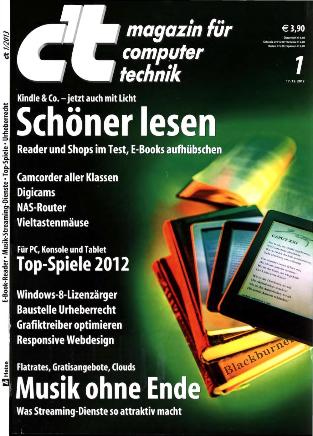 c't Magazin 2013-01