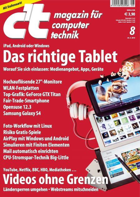 c't Magazin 2013-08