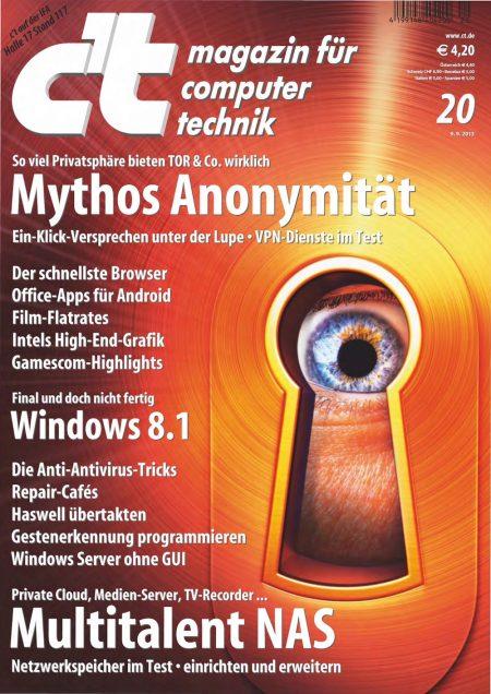 c't Magazin 2013-20