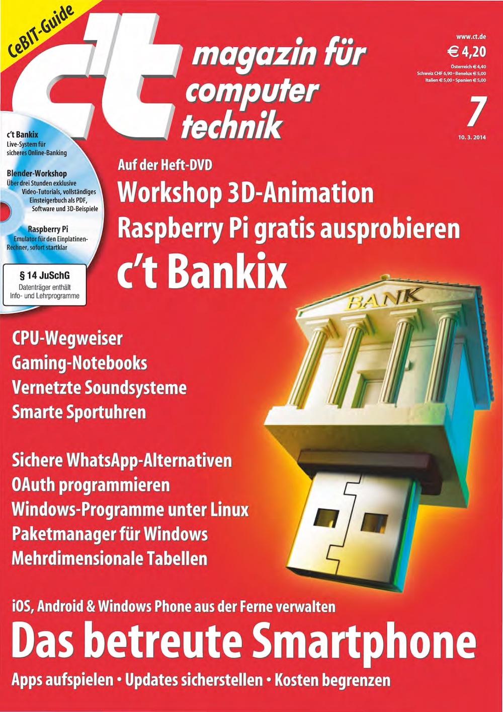 c't Magazin 2014-07