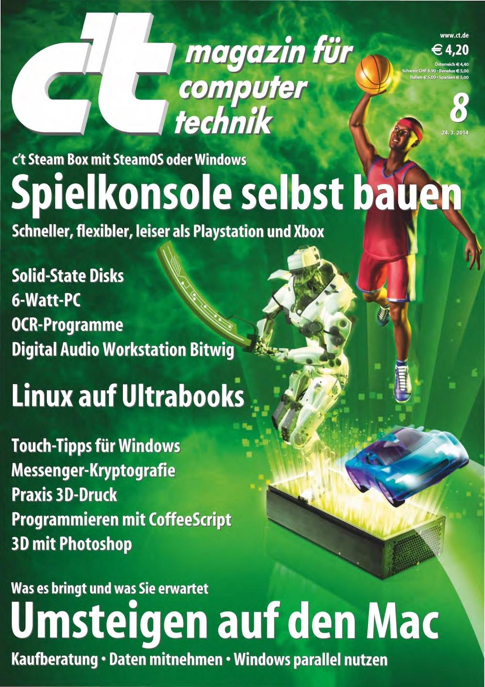 c't Magazin 2014-08