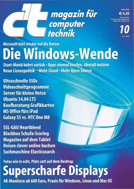c't Magazin 2014-10