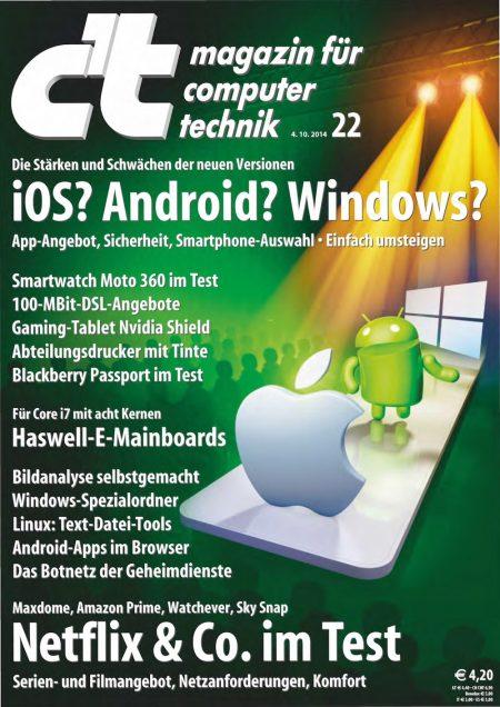 c't Magazin 2014-22