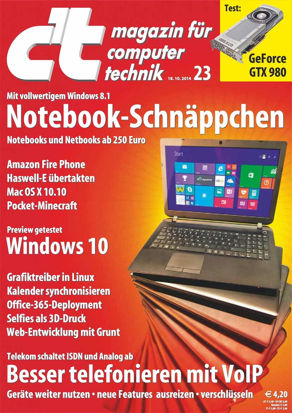 c't Magazin 2014-23