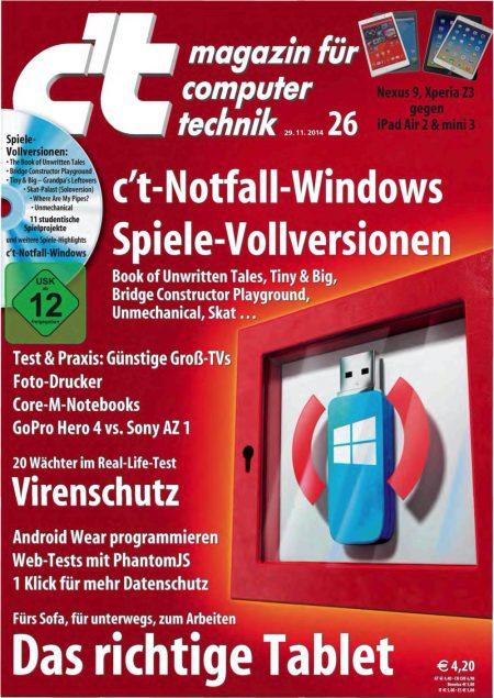 c't Magazin 2014-26