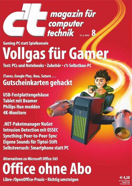 c't Magazin 2015-08