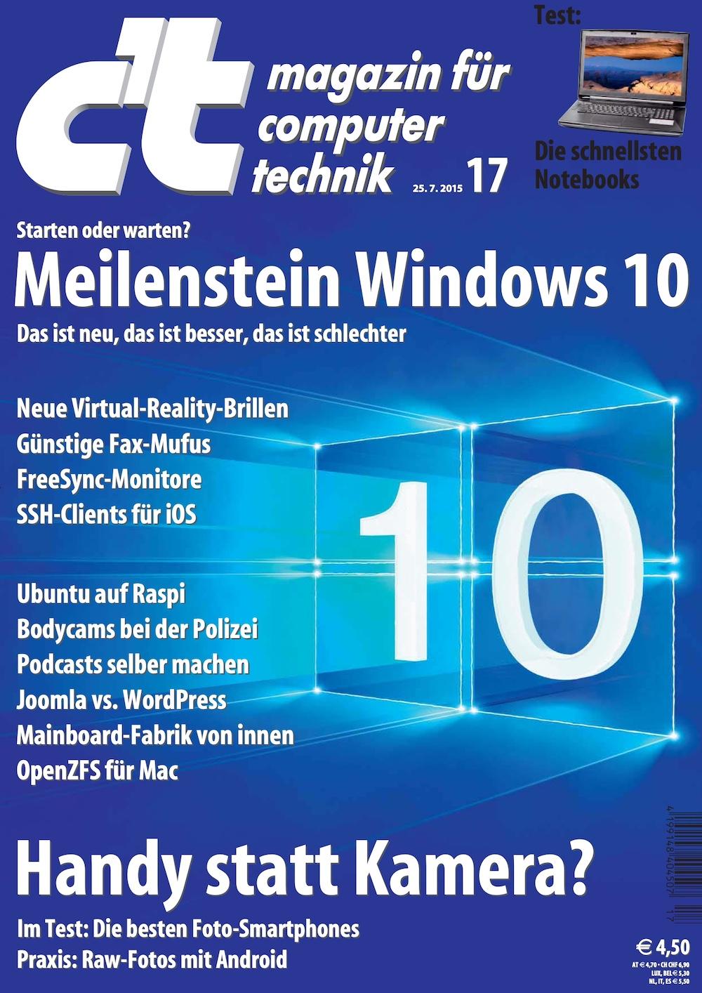 c't Magazin 2015-17