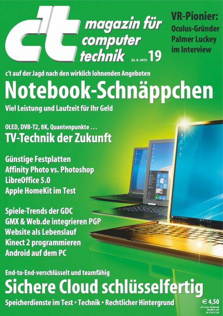 c't Magazin 2015-19