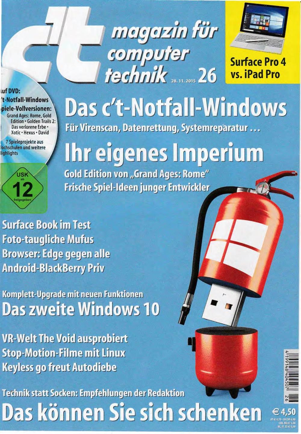 c't Magazin 2015-26