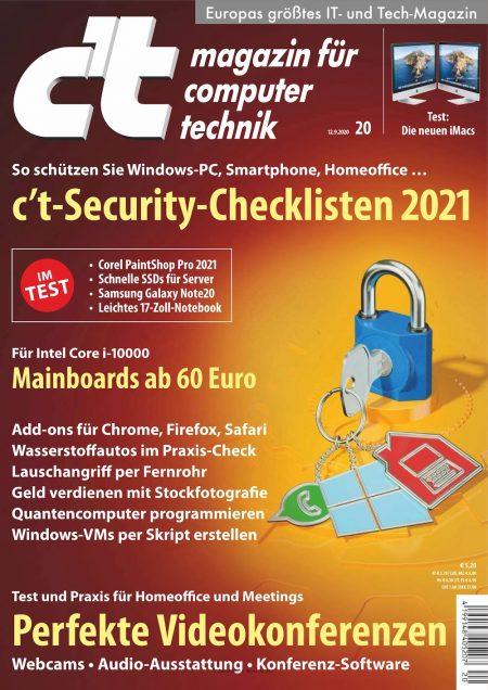 c't Magazin 2020-20