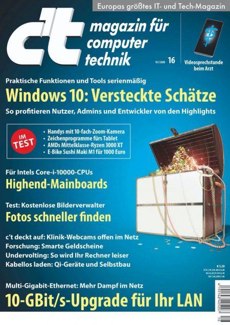 c't Magazin 2020-16