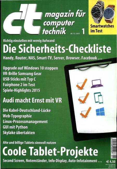 c't Magazin 2016-01
