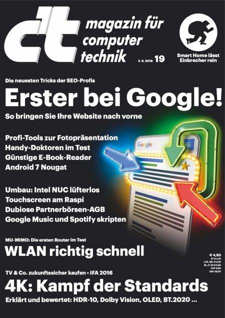 c't Magazin 2016-19