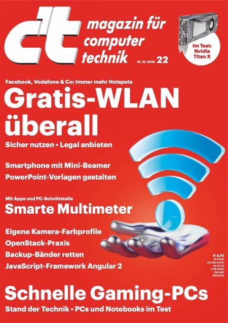 c't Magazin 2016-22