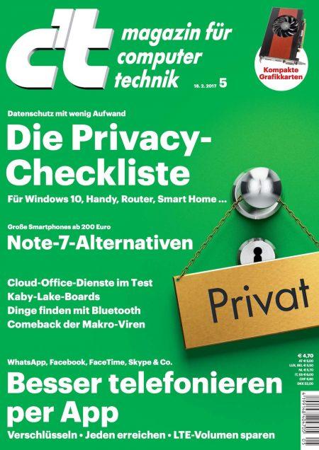 c't Magazin 2017-05