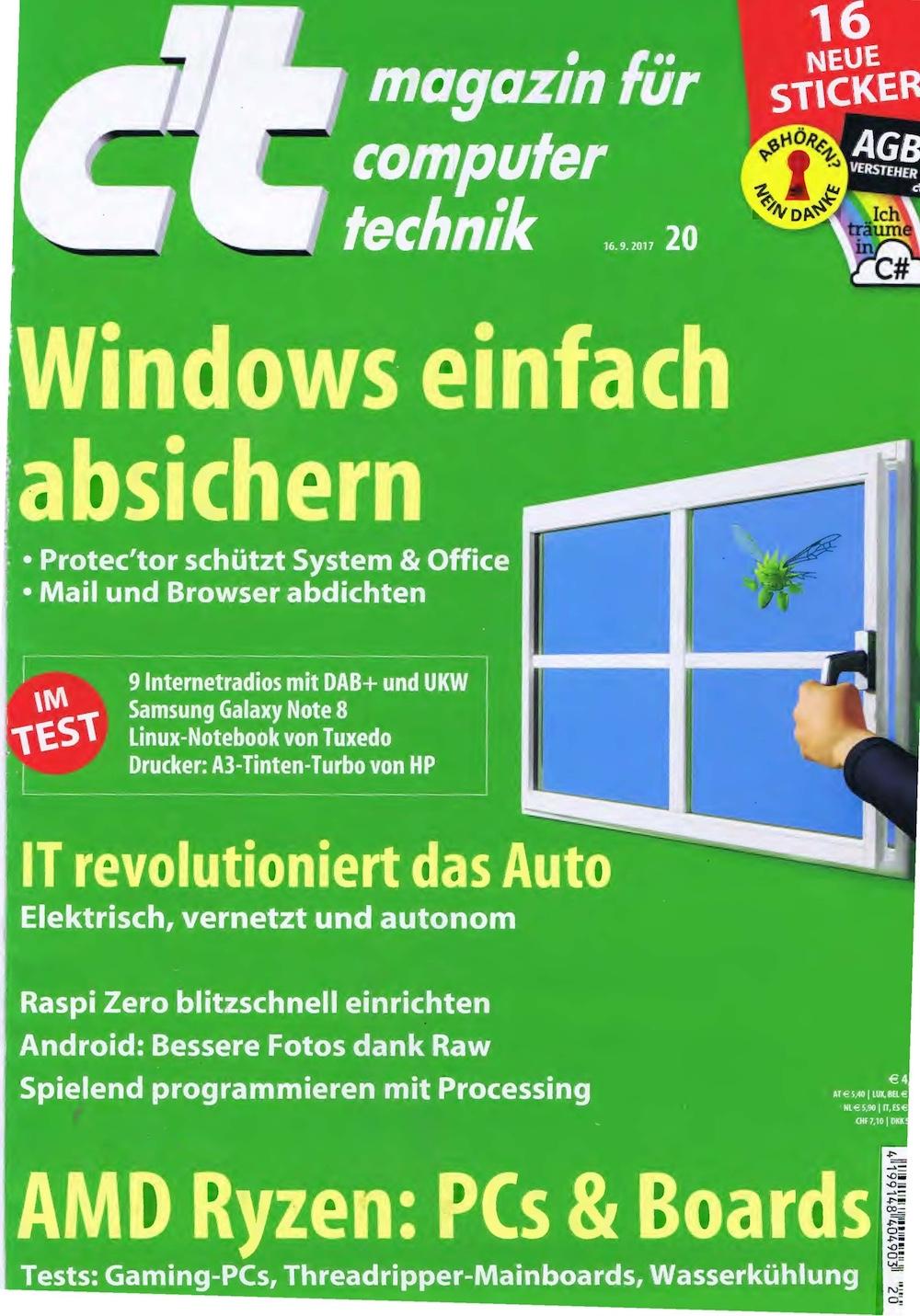 c't Magazin 2017-20