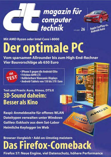 c't Magazin 2017-26