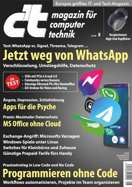 c't Magazin 2021-08